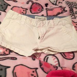 Pants - Aeropostale white chino shorts